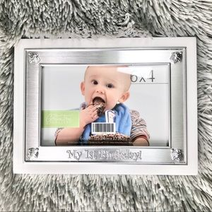 New 1st Birthday Baby Picture Frame 4x6 White